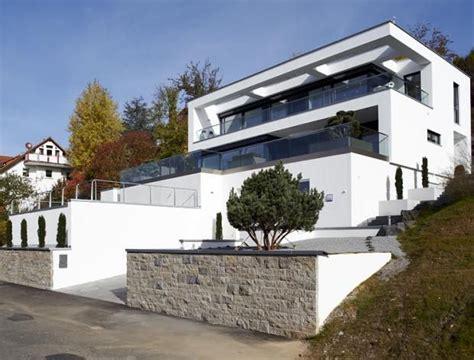 Moderne Häuser Hanglage by Fertighaus Am Hang Baudaten Architekt Hersteller Okal