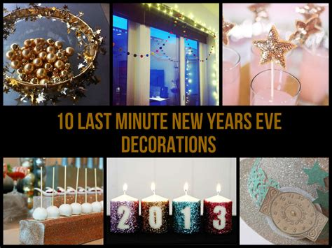Decorating Ideas New Years by 10 Last Minute New Years Decorations