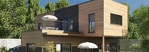 Maison Bois Contemporaine : maison ossature bois contemporaine t5 etage 107 m2 ~ Preciouscoupons.com Idées de Décoration