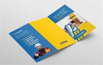 Handyman Brochure Template Tri Fold Trifold Brandpacks