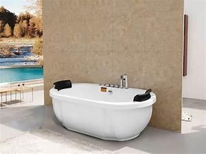 Baignoire Pour 2 : baignoire baln o ovale canberra 2 places 180 x 105 x 62 ~ Edinachiropracticcenter.com Idées de Décoration