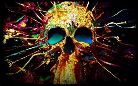 Digital Skull Wallpaper by Digital Colorful Skull Wallpapers Hd Desktop And