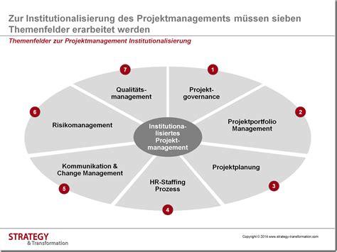 zur institutionalisierung des projektmanagements muessen