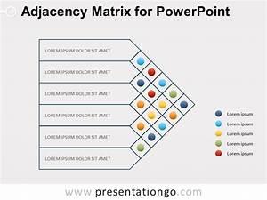 Adjacency Matrix Diagram For Powerpoint
