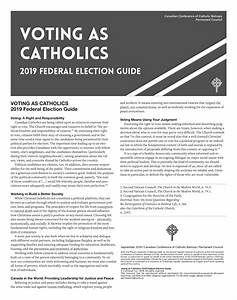 Election Guides Call On Catholics To Participate In
