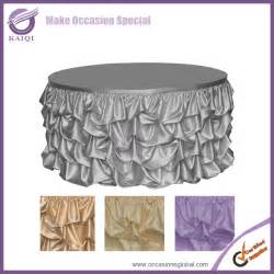 wedding linens wholesale 776 style ruffled design wedding table skirting