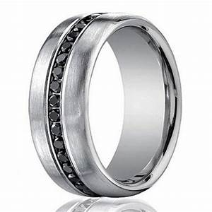 designer 14k white gold men39s eternity band black diamond With mens wedding rings black diamonds