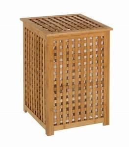 Panier à Linge Bambou : panier linge en bambou avec sac int rieur amovible ~ Teatrodelosmanantiales.com Idées de Décoration