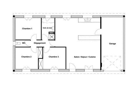 Plan Maison 3 Chambres 80m2