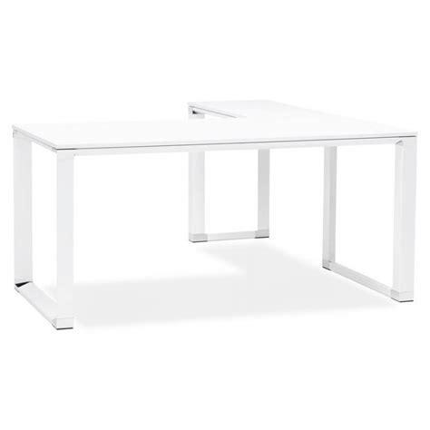 bureau d angle en bois bureau d 39 angle design corporate en bois blanc
