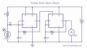 Fridge Door Open Alarm Circuit
