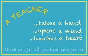 Teacher Quotes Thank You Card. QuotesGram