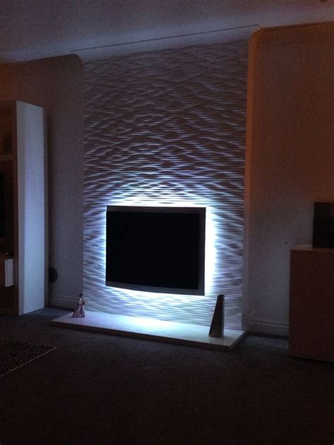 Tv Paneel Wand by Fireplace Textured Wall Project 3d Wall Panels Ideas