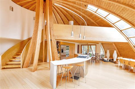 Dome Home Interior Design by Eco Friendly Rotating Dome Country Retreat Idesignarch