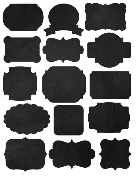 doodlecraft freebies printables labels  chalkboard fonts