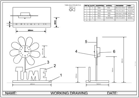 designer  orthographic drawing