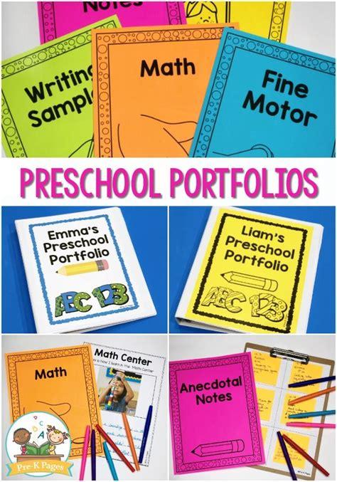 preschool portfolio ideas pre  pages preschool