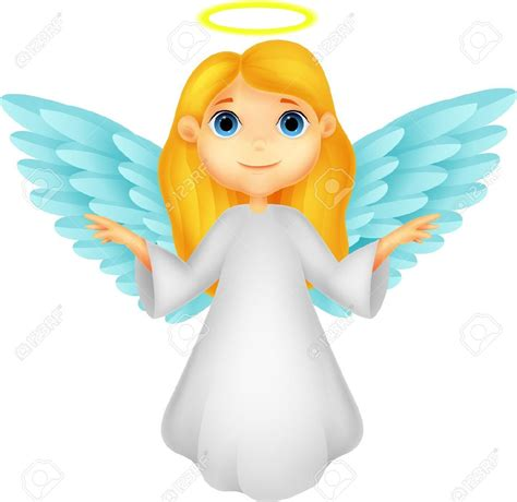 cute angel cartoon stock vector christmasjpg