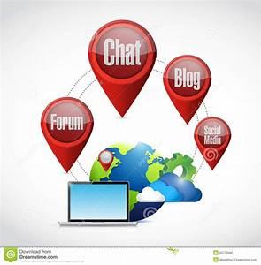 Online Computer Network Diagram Stock Illustration