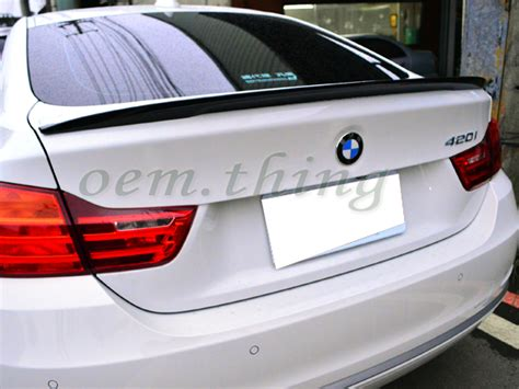 Painted Bmw 4-series F32 Coupe P Type Rear Trunk Spoiler