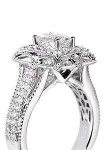 vera wang wedding rings vera wang tiara and white gold engagement ring in metallic lyst