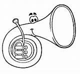 Horn Coloring Coloringcrew sketch template