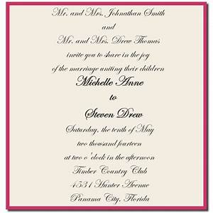 wedding invitation wording both parents giant design With most formal wedding invitations