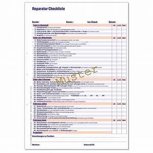 Pflichtangaben Rechnung Checkliste : reparatur checkliste din a4 werkstattformulare kfz formulare hermann fachversand ~ Themetempest.com Abrechnung