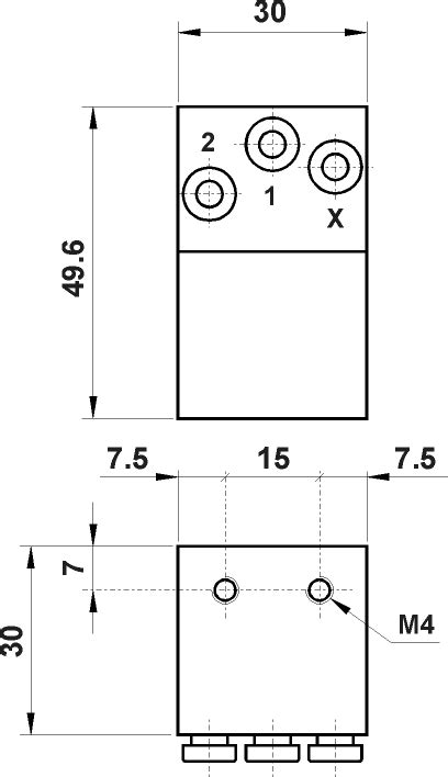 AZ Pneumatica. 08.039.4 - NOT element with push-in fittings