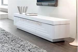 Télévision Pas Cher Conforama : meuble tv laqu blanc pas cher ~ Dailycaller-alerts.com Idées de Décoration