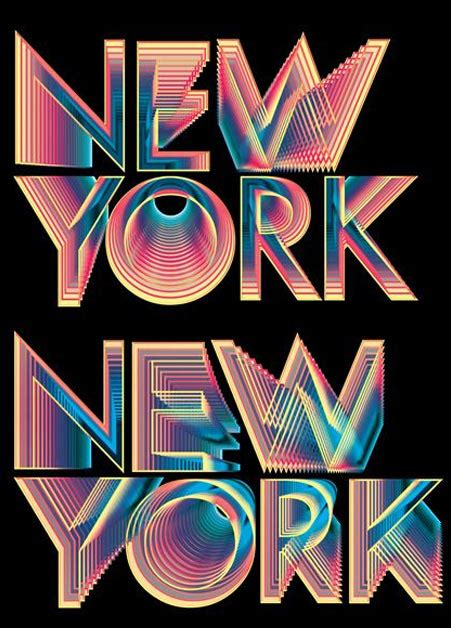 web design nyc showcase of best graphic designs using neon colors