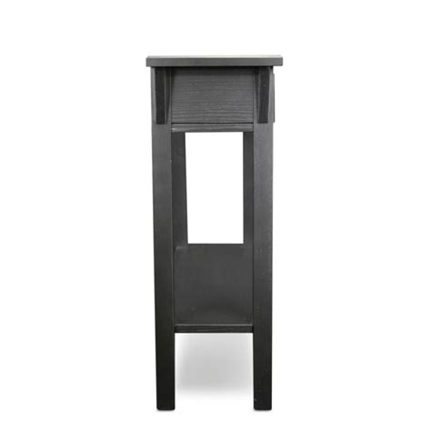 leick mission hall console table slate black amazon com leick mission hall console table slate black