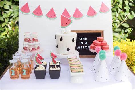kara 39 s party ideas watermelon fruit summer girl 1st kara 39 s party ideas quot one in a melon quot watermelon birthday
