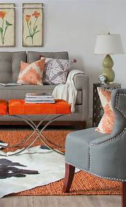 orange and grey living room accent piece orange accent With gray and orange living room
