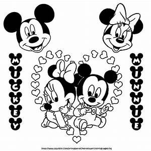 baby mickey and minnie mouse coloring page | my coloring ...