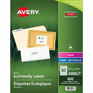 Avery ecofriendly white 1 2quot x 1 3 4quot return address for 2 x 3 mailing labels