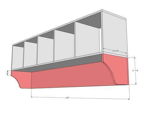 ana white build  large custom mudroom organizer