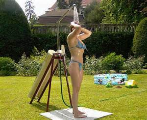 Portable Pool Shower by Efficient Solar Showers Metaefficient