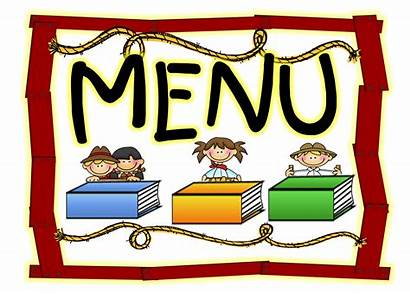 Menu Lunch Clipart Cafe Borders Clip Board