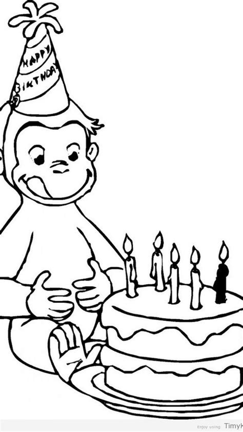 Curious George Birthday Coloring Pages Free Coloring Library