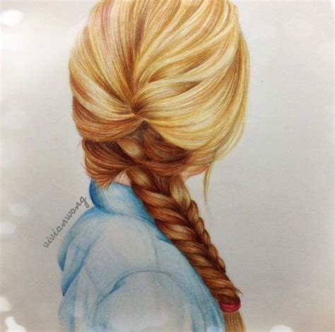 Girl Hair Drawing Braided Hair Drawing From Vivian Wong Artwork