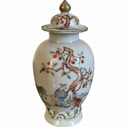 Chinese Tea Caddy Porcelain Antique Century 18th