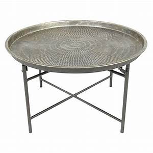 Round metal coffee table for Round metal tray coffee table