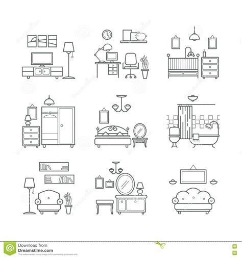 crib with dresser home room icons set interior design room types living
