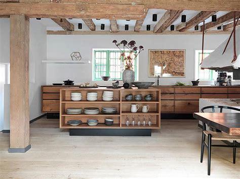 cuisine originale en bois cuisine moderne en bois