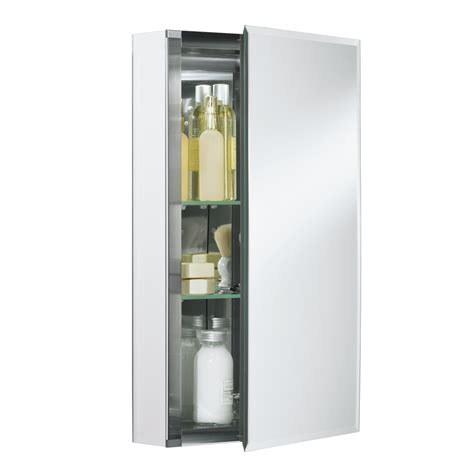 mirrored medicine cabinet shop kohler 15 in x 26 in rectangle surface recessed