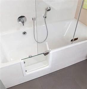 Dusche Und Badewanne Kombiniert : badewanne mit t r und dusche sicherheit und komfort im bad ~ Markanthonyermac.com Haus und Dekorationen