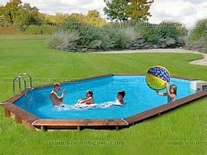 Piscine En Kit Enterrée : kit piscine semi enterr e bois sunbay jawa ovale x x avec kit hors bord sur ~ Melissatoandfro.com Idées de Décoration