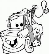 Mater Coloring Pages Tow Cars Disney Matter Mutt Funny Mcqueen Printable Stuff Mc Queen Line Lightning Drawings Sheet Getcolorings Categories sketch template