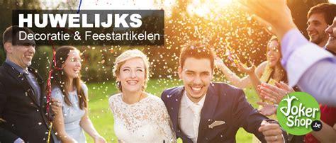 decoratie trouwfeest bruiloft decoratie huwelijk versiering jokershop be